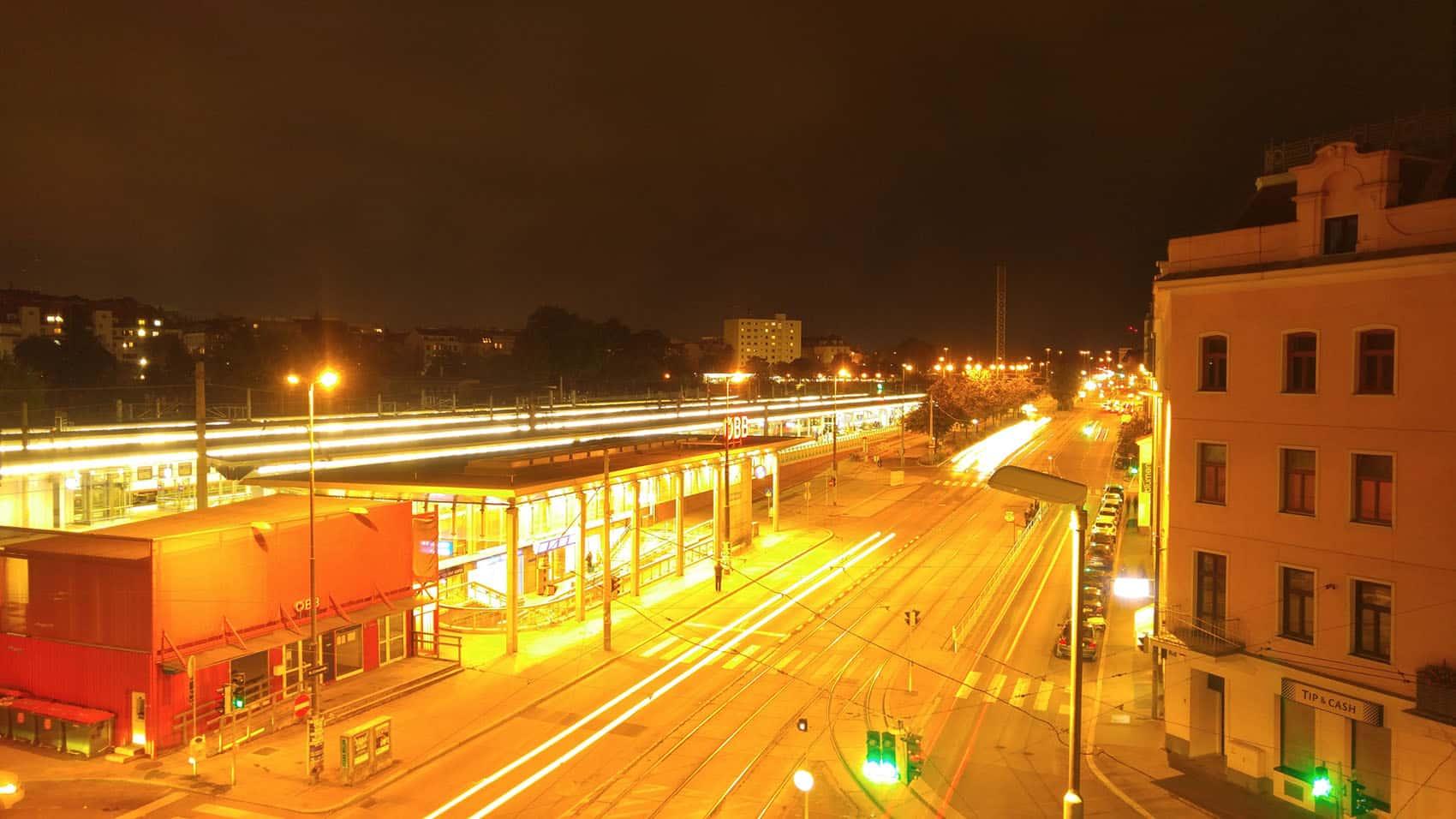 Schlüsseldienst Wien Wien Meidling bei Nacht